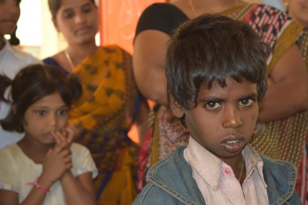 Raju, a young child who was rescued from traffickers by women child rights' activists in in Andhra Pradesh, India. There is an urgent need for fund allocations to protect the world's most marginalised and vulnerable children gravely affected by the COVID-19 pandemic. Credit: Stella Paul/IPS