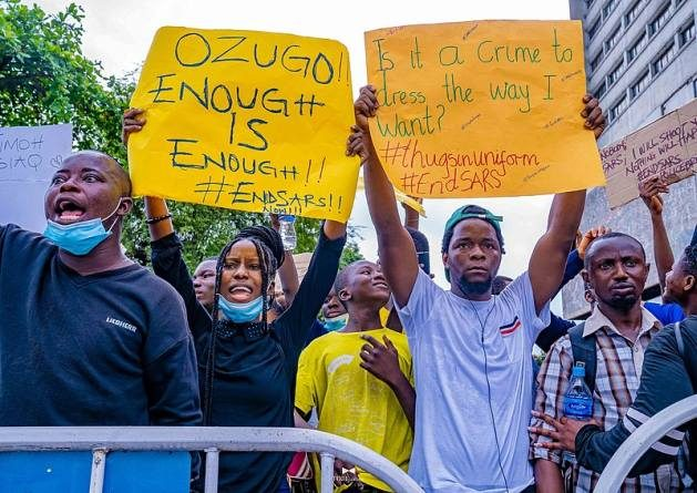 On October 20, 2020, young Nigerians who were protesting against police brutality were shot by men in Nigerian military uniforms. Unarmed, peaceful citizens were massacred at the Lekki Toll Gate in Lagos, southwest Nigeria