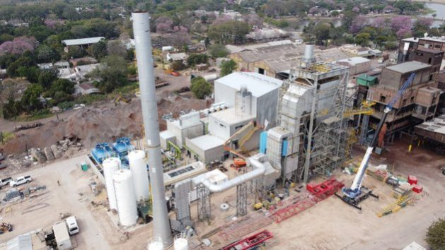 The Unitán biomass power plant in the municipality of La Escondida, in the northeastern province of Chaco, which began operating in December, has cost $ 18 million to build and will provide up to 6.6 megawatts of the country's electricity grid.  Credit: Courtesy of Unitán
