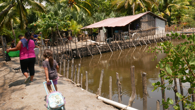Some families living in coastal villages in the municipality of San Luis La Herradura have dug ponds for sustainable fishing, which was of great help to the local population during the COVID-19 lockdown in this coastal area of southern El Salvador. CREDIT: Edgardo Ayala /IPS