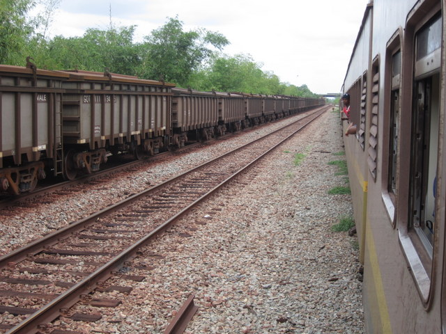 A passenger train meets a freight train on the Carajás Railway, built for the export of iron ore in northern Brazil. Railways in Brazil are mainly used to transport grains and minerals, accentuating the weight of commodities in the economy. CREDIT: Mario Osava/IPS